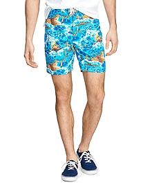 "8"" Ocean Print Board Shorts"