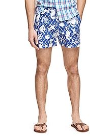 "4"" Sea Motif Swim Trunks"