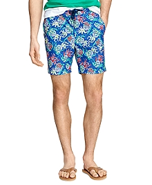 "7"" Pineapple Print Swim Trunks"