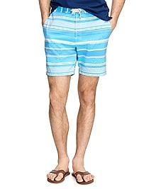 """7"""" Stripe Swim Trunks"""