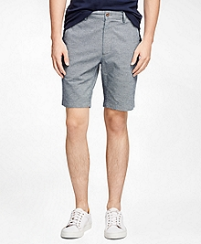 Textured Oxford Shorts