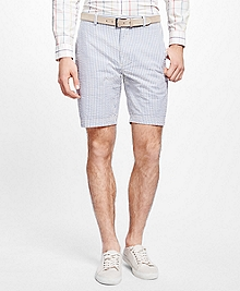 Stripe Seersucker Shorts