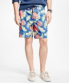 Tropical Print Board Shorts