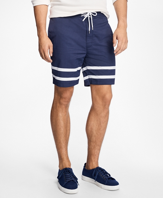 Hybrid Stripe Swim Trunks Navy