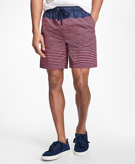 "Montauk 6"" Stripe Swim Trunks"