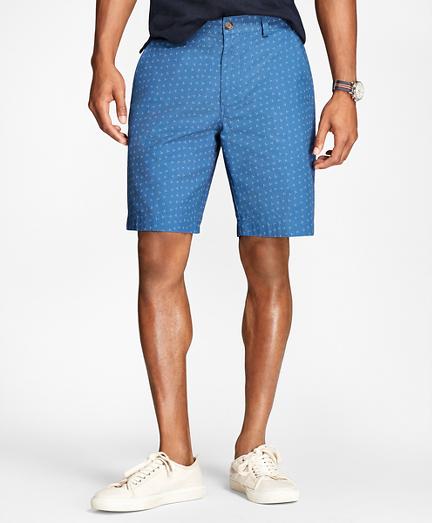 Ditsy-Print Cotton-Twill Shorts