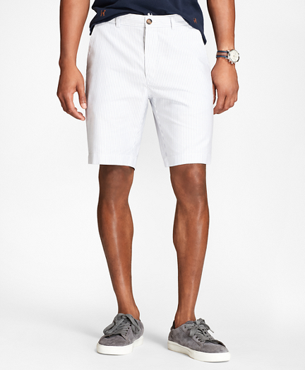Striped Supima® Cotton Oxford Shorts