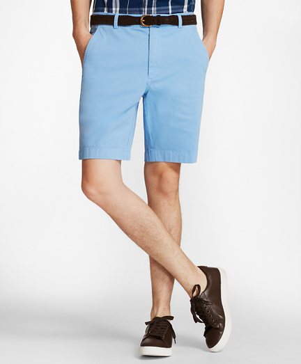 "Garment-Dyed Stretch Chino 9"" Shorts"