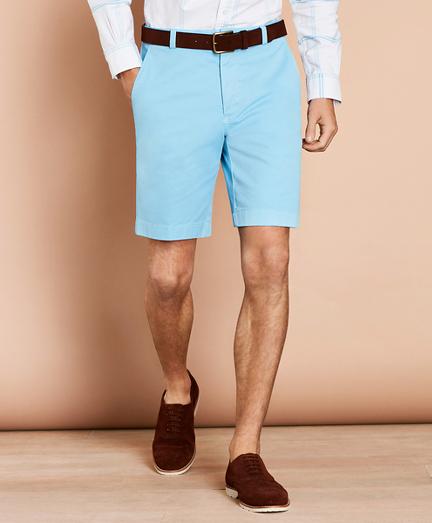 Stretch Cotton Twill Shorts