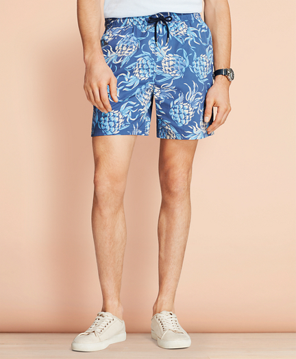 "Montauk 6"" Pineapple Swim Trunks"