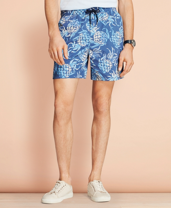 "Montauk 6"" Pineapple Swim Trunks Blue"