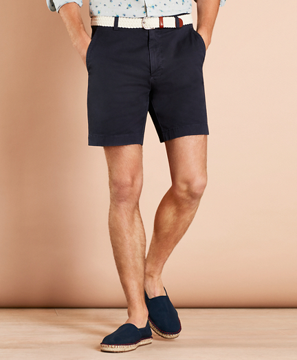 "Garment-Dyed Stretch Chino 7"" Shorts"