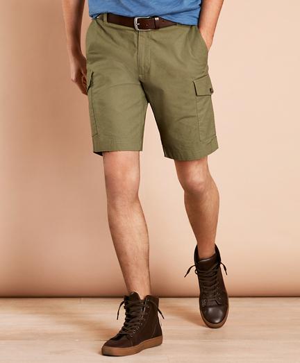 Cotton Ripstop Cargo Shorts