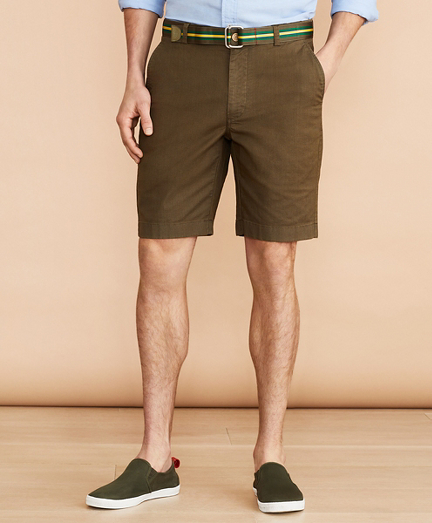 "Cotton-Linen 9"" Chino Shorts"