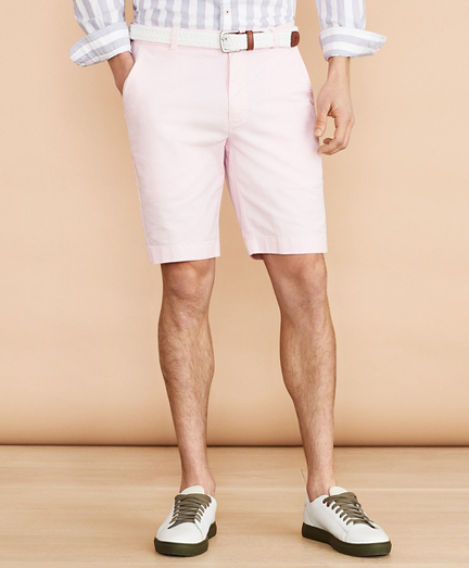 "Cotton-Linen 9"" Chino Shorts"