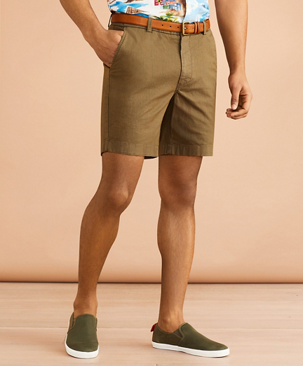 "Cotton-Linen 7"" Chino Shorts"