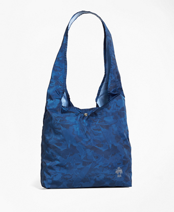 Camo-Print Nylon Shopper