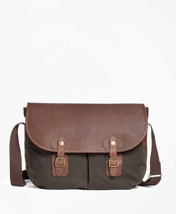 Waxed Canvas & Leather Messenger Bag