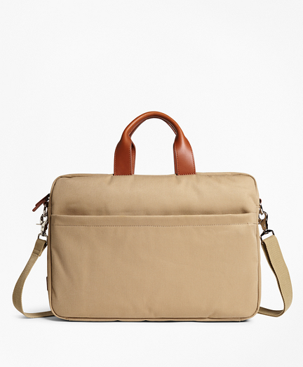 Brushed Cotton Twill Briefcase