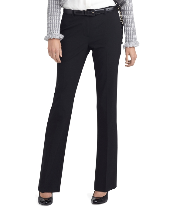 Wool Stretch Lucia Trousers Black