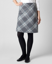 Shetland Wool Plaid Skirt