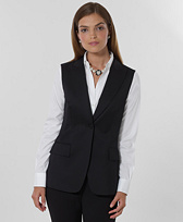 Petite Wool One-Button Vest