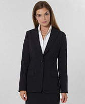 Petite Pinstripe One-Button Jacket
