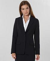 Petite Pinstripe One-Button Jacket