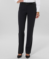 Petite Pinstripe Wool Stretch Lucia Trousers