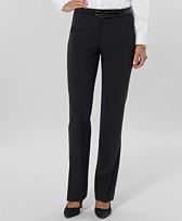 Petite Pinstripe Wool Stretch Lucia Trousers