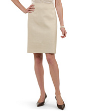 Petite Silk/Linen/Wool Skirt
