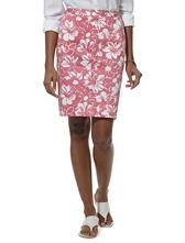 Petite Country Club Stretch Hawaiian Print Skirt
