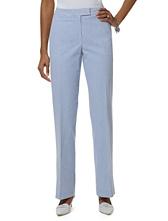 Petite Country Club Seersucker Caroline Fit Trousers