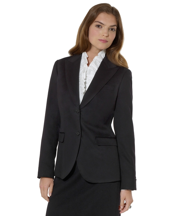 Petite Cashmere Two-Button Jacket Black