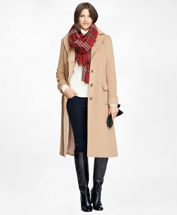 Women's Petite Camel Hair Coat | Brooks Brothers