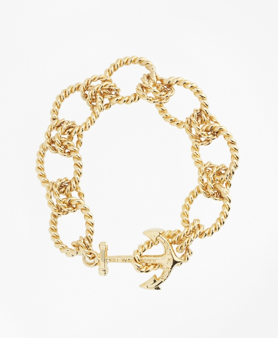 Kiel James Patrick Gold Link Bracelet