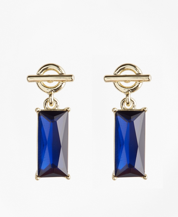 Stone-Drop Toggle Earrings
