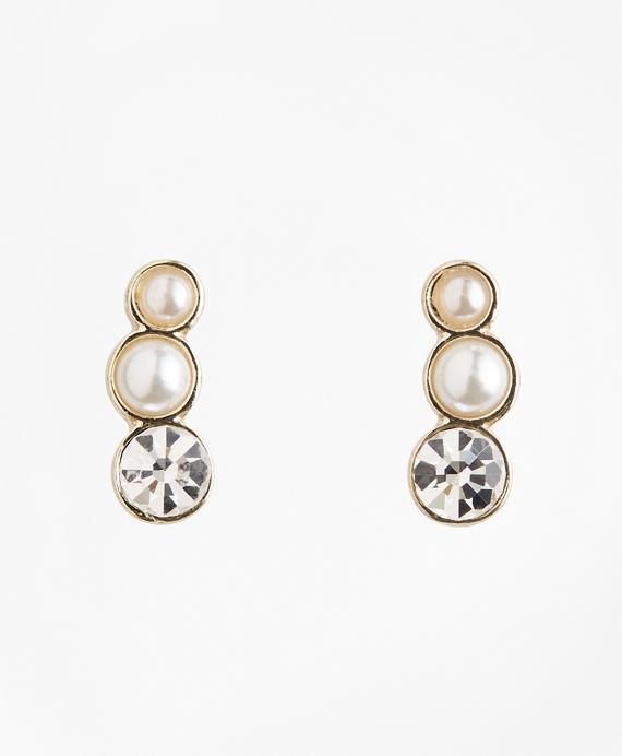 Glass Pearl Ear Crawler Gold