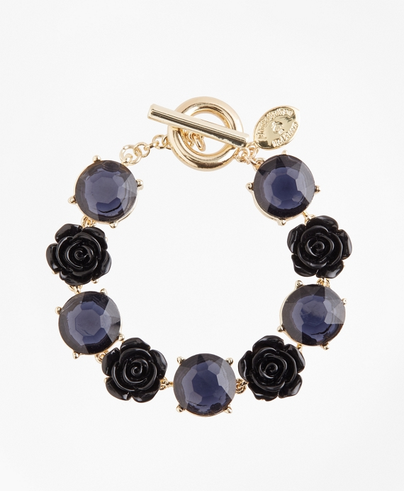 Rose and Stone Bracelet Gold