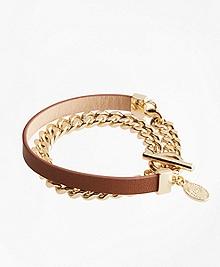 Leather Chain Wrap Bracelet