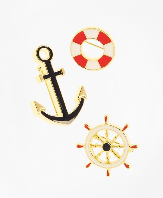 Nautical Pin Set Gold