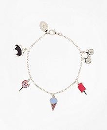 Silver 6-Charm Bracelet