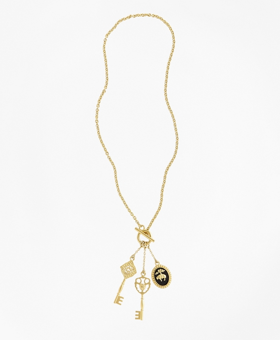 Gold-Plated Key Necklace