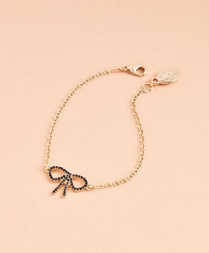 Crystal Pave Bow Bracelet