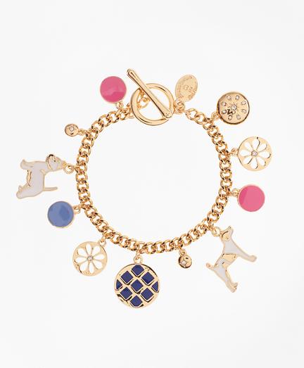 Enamel Dog Charm Bracelet