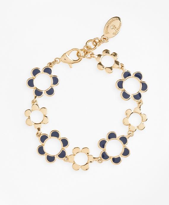 Enameled Floral Bracelet Gold