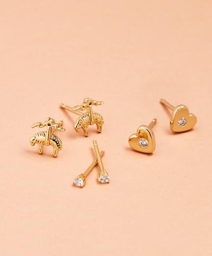 Love, Brooks Demi Fine Stud Earrings - Set of Three