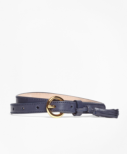 Leather Trouser Belt with Tassel