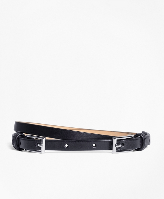 Leather Two Buckle Belt by Brooks Brothers