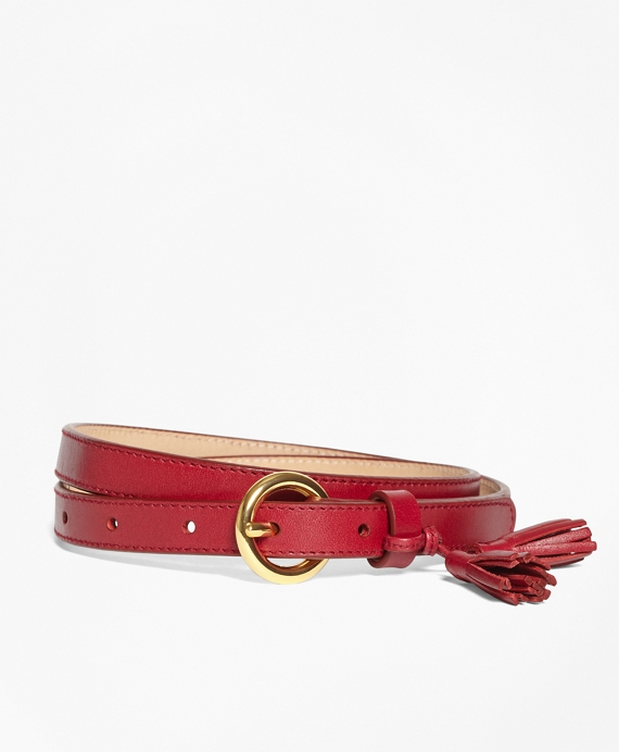 Tasseled Leather Belt